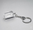 CRYSTAL GLASS KEY RING